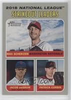 League Leaders - Jacob deGrom, Patrick Corbin, Max Scherzer