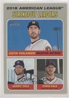 League Leaders - Chris Sale, Justin Verlander, Gerrit Cole