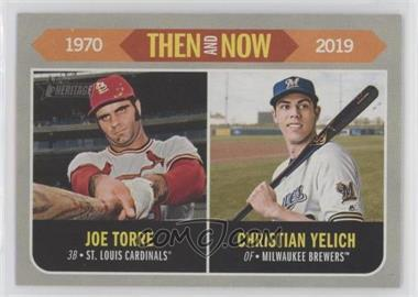 2019 Topps Heritage - Then and Now #TN-10 - Joe Torre, Christian Yelich