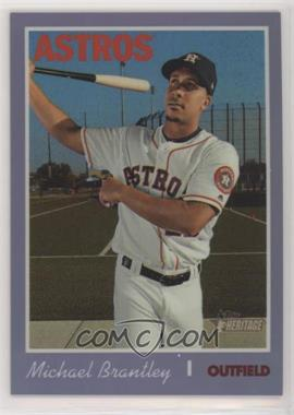 2019 Topps Heritage High Number - [Base] - Hot Box Purple Refractor #THC-503 - Michael Brantley [EX to NM]