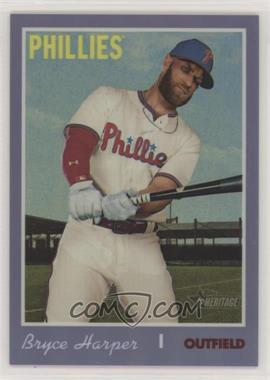 2019 Topps Heritage High Number - [Base] - Hot Box Purple Refractor #THC-534 - Bryce Harper