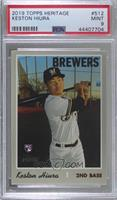 Keston Hiura (Batting Pose) [PSA 9 MINT]