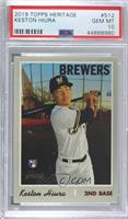 Keston Hiura (Batting Pose) [PSA 10 GEM MT]
