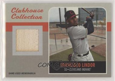2019 Topps Heritage High Number - Clubhouse Collection Relics #CCR-FL - Francisco Lindor