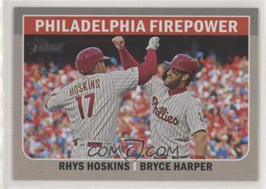 2019 Topps Heritage High Number - Combo Cards #CC-2 - Bryce Harper, Rhys Hoskins