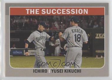 2019 Topps Heritage High Number - Combo Cards #CC-4 - Yusei Kikuchi, Ichiro