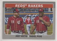 Joey Votto, Yasiel Puig