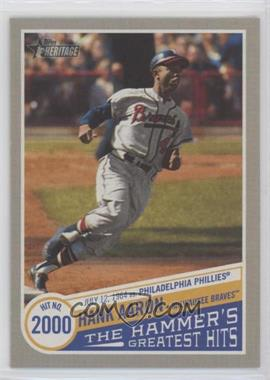 2019 Topps Heritage High Number - The Hammer's Greatest Hits #THGH-14 - Hank Aaron