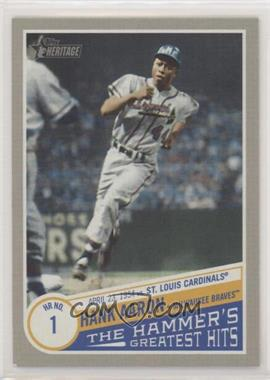 2019 Topps Heritage High Number - The Hammer's Greatest Hits #THGH-3 - Hank Aaron