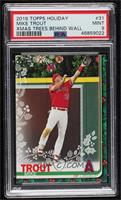 Rare Variation - Mike Trout (Angels Ornaments Above Wall) [PSA9MINT]