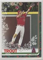 Rare Variation - Mike Trout (Angels Ornaments Above Wall)