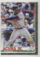 Super Rare Variation - Ronald Acuna Jr. (Snowflakes on Eye Black)