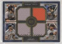 Brandon Belt, Evan Longoria, Brandon Crawford, Buster Posey #/25