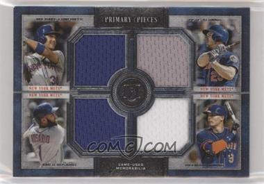 2019 Topps Museum Collection - Primary Pieces Four Player Quad Relics #FPR-CARN - Pete Alonso, Amed Rosario, Brandon Nimmo, Michael Conforto /99