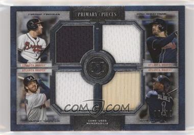 2019 Topps Museum Collection - Primary Pieces Four Player Quad Relics #FPR-FDSA - Freddie Freeman, Josh Donaldson, Dansby Swanson, Ozzie Albies /99