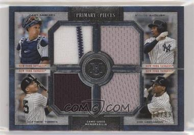 2019 Topps Museum Collection - Primary Pieces Four Player Quad Relics #FPR-SATG - Gary Sanchez, Gleyber Torres, Miguel Andujar, Didi Gregorius /99