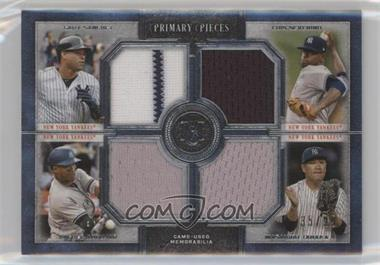 2019 Topps Museum Collection - Primary Pieces Four Player Quad Relics #FPR-SSAT - Gary Sanchez, Luis Severino, Masahiro Tanaka, Miguel Andujar /99