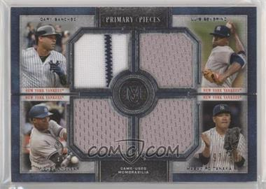 2019 Topps Museum Collection - Primary Pieces Four Player Quad Relics #FPR-SSAT - Gary Sanchez, Luis Severino, Masahiro Tanaka, Miguel Andujar /99 [EXtoNM]