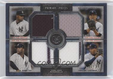 2019 Topps Museum Collection - Primary Pieces Four Player Quad Relics #FPR-STSC - CC Sabathia, Masahiro Tanaka, Aroldis Chapman, Luis Severino /99