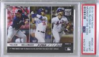 Christian Yelich, Cody Bellinger, Pete Alonso [PSA 10 GEM MT] #/…