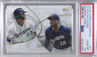 Keston Hiura, Christian Yelich [PSA 10 GEM MT] #/850