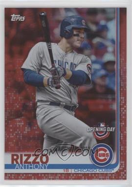 2019 Topps Opening Day - [Base] - Red Foil #86 - Anthony Rizzo