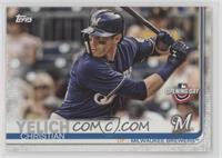Base - Christian Yelich (Blue Jersey, Batting)