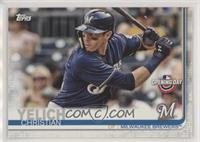 Christian Yelich (Blue Jersey, Batting)