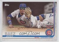 Base - Javier Baez (Fielding, Pinstriped Jersey)