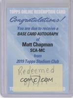 Matt Chapman [BeingRedeemed]