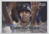 Photo Variation - Christian Yelich (High Fives)
