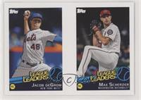 Jacob deGrom, Max Scherzer, Jake Bauers
