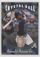 1995 Topps Stadium Club Crystal Ball Design - Ronald Acuna Jr. #/806