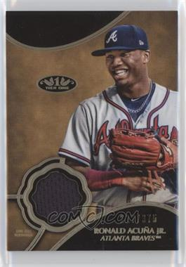 2019 Topps Tier One - Tier One Relics #T1R-RAJ - Ronald Acuña Jr. /375