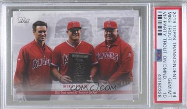 2019 Topps Transcendent Party - On Demand Mike Trout Retrospective #4 - Mike Trout, Mike Scioscia, Jerry Dipoto /83 [PSA10GEMMT]