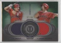 Mike Trout, Albert Pujols #/99