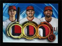 Albert Pujols, Shohei Ohtani, Mike Trout #/3