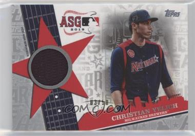 2019 Topps Update Series - All-Star Stitches - Silver #ASSR-CY - Christian Yelich /50