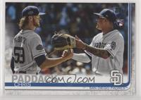 SP Photo Variation - Chris Paddack (With Manny Machado)