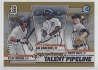 Daz Cameron, Riley Greene, Casey Mize #/50