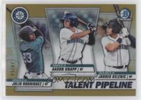 Jarred Kelenic, Julio Rodriguez, Aaron Knapp #/50
