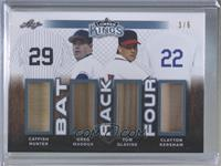Catfish Hunter, Greg Maddux, Tom Glavine, Clayton Kershaw #/6