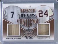 Mickey Mantle, Willie Mays #/15