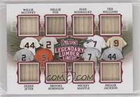 Willie McCovey, Nellie Fox, Ivan Rodriguez, Ted Williams, Derek Jeter, Brooks R…