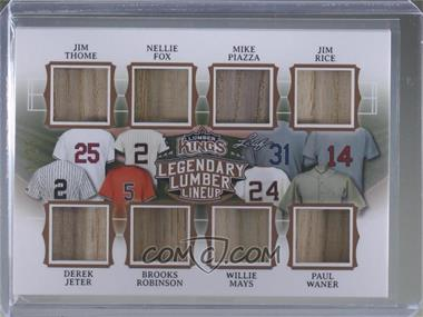 2020 Leaf Lumber Kings - Legendary Lumber Lineup #LLL-07 - Jim Thome, Nellie Fox, Mike Piazza, Jim Rice, Derek Jeter, Brooks Robinson, Willie Mays, Paul Waner /25