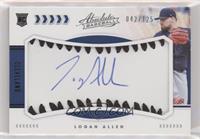 Rookie Baseball Material Signatures - Logan Allen #/125