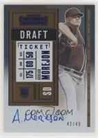 Rookie Ticket Variation A - Adrian Morejon #/49