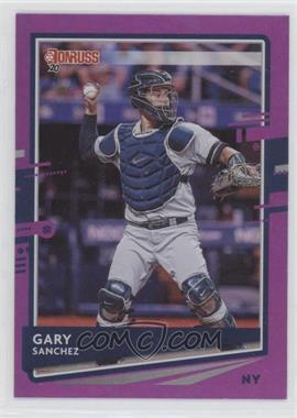 2020 Panini Donruss - [Base] - Holo Purple #74 - Gary Sanchez