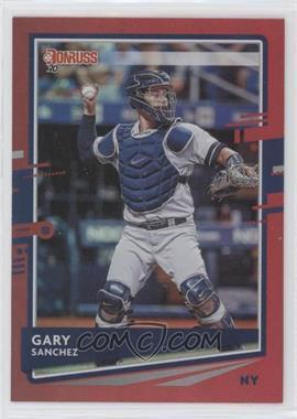 2020 Panini Donruss - [Base] - Holo Red #74 - Gary Sanchez