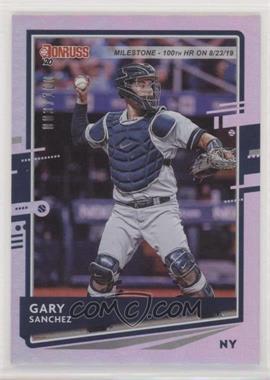 2020 Panini Donruss - [Base] - Milestone Stat Line #74 - Gary Sanchez /100
